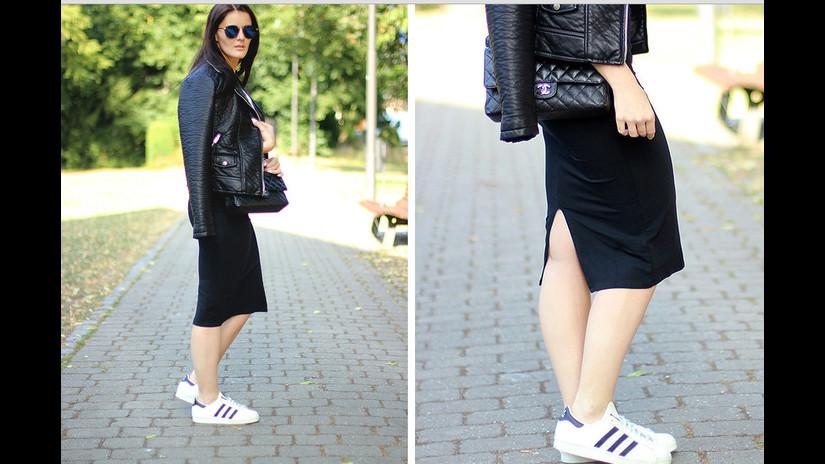 vestidos con zapatos adidas