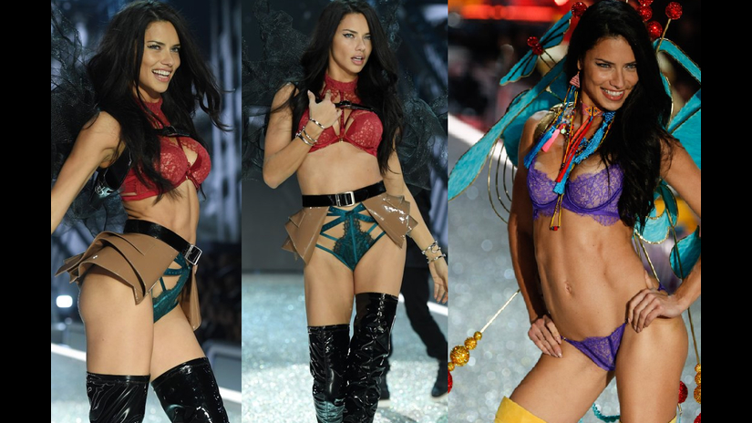 Adriana Lima celebra 17 años como imagen del Victoria's Secret Fashion Show