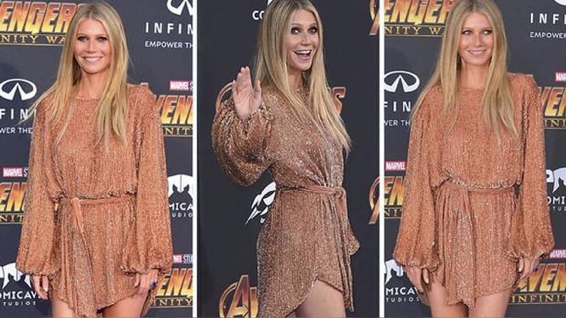 Gwyneth Paltrow increíble en la alfombra roja de Avengers: Infinity War