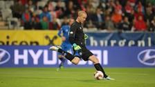 Hizo su debut internacional con Islandia en 2011, manteniendo su valla invicta en un partido clasificatorio para la Eurocopa 2012. Halldórsson es considerado como el portero titular de su selección, después de haber jugado los doce encuentros para Islandia en la Clasificación a la Copa Mundial de Fútbol de 2014.
