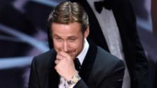 Así reaccionó Ryan Gosling tras error en los Oscar 2017