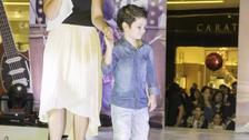 Nicola, hijo de Connie Chaparro y Sergio Galliani desfila por primera vez