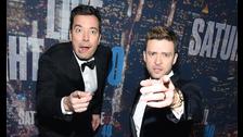 Justin Timberlake y Jimmy Fallon. Se conocieron en los VMA del 2002, donde Fallon era el presentador y Timberlake se presentaría con NSYNC. La amistad fue instantánea.