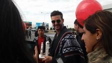 Axel ya llegó a la ciudad de Arequipa y sus fans le dieron una gran bienvenida