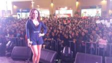 Connie Chaparro estuvo presente en Arequipa para animar el Festival Corazón