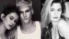 Kaia y Presley, hijos de Cindy Crawford, vivo retrato de la modelo icono del 90