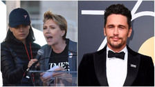 Women's March:  Scarlett Johansson atacó a James Franco tras denuncias de acoso sexual