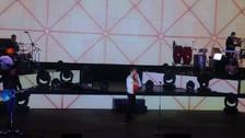 Pablo Alborán besó la bandera peruana en su concierto en Lima