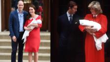 El vestido con el que Kate Middleton presentó a su tercer bebé, un homenaje a Lady Di