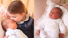 Para morir de amor: la princesa Charlotte besa a su hermano menor, el príncipe Louis