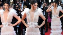 Cannes 2018: Kendall Jenner desfila en transparencias en la alfombra roja