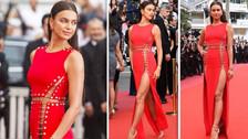 Lady in Red: Irina Shayk, la más sexy y elegante de la alfombra de Cannes 2018
