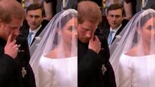 Boda real: las lágrimas del príncipe Harry al casarse con Meghan Markle
