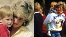 15 fotos que muestran el vínculo que tenía el Príncipe Harry con su mamá, Lady Di