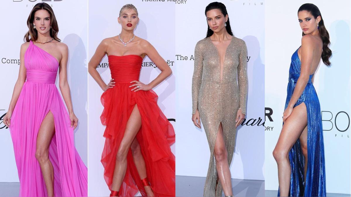 amfAR 2018 en Cannes: Transparencias, aberturas y escotes en la alfombra roja